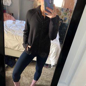 Black lululemon workout jacket